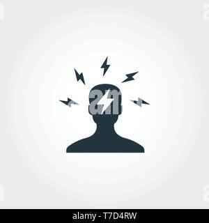 L'icône de remue-méninges. Design Premium Monochome symbole de collection. UX et l'assurance-chômage pictogramme simple icône remue-méninges Banque D'Images