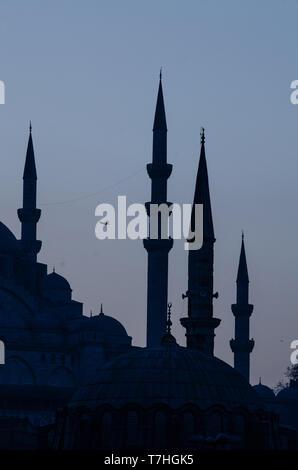 Les toits d'Istanbul, les dômes et les minarets, Turquie Banque D'Images