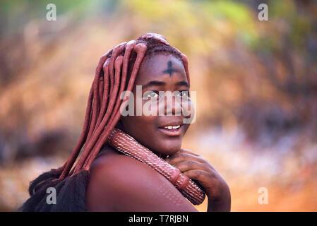 Himba, filles, opuwo, namibie Banque de Photographies