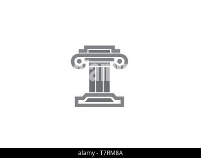 Bâtiment de conception de logo Justice droit Banque D'Images
