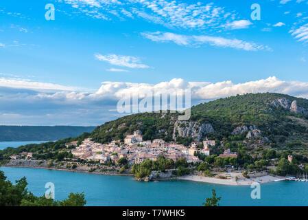 Village de Bauduen dans le sud de la France Banque D'Images