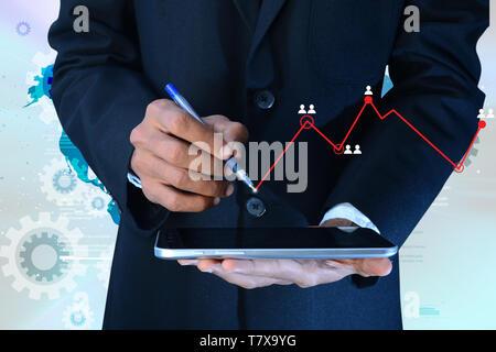 Concept de trading en ligne Banque D'Images