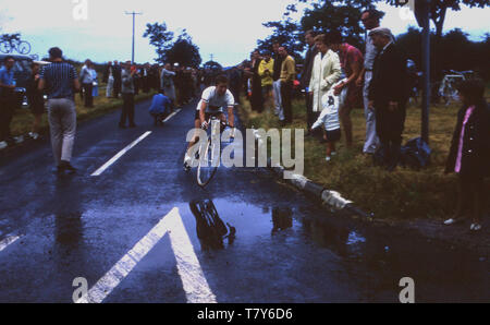 Années 1970, historique, la légende du vélo, Beryl Burton dans les 24 heures. Banque D'Images