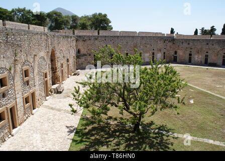Château de Pylos, Niokastro, Péloponnèse, Grèce Banque D'Images