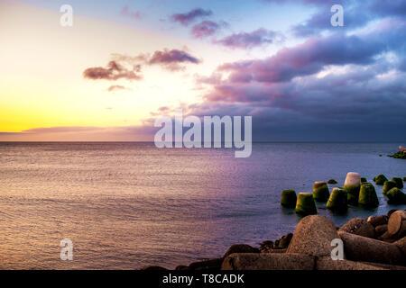 Coucher du soleil à Jeju, Corée du Sud Banque D'Images