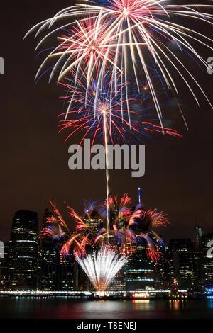 Macy's d'artifice du 4 juillet Banque D'Images
