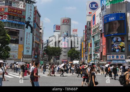 Croisement de Shibuya à Tokyo, Japon. Banque D'Images