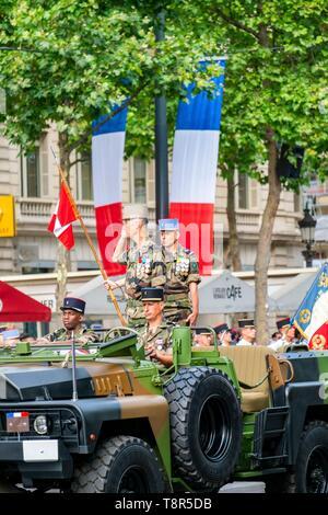 France, Paris, le défilé militaire du 14 juillet, 2016 Banque D'Images