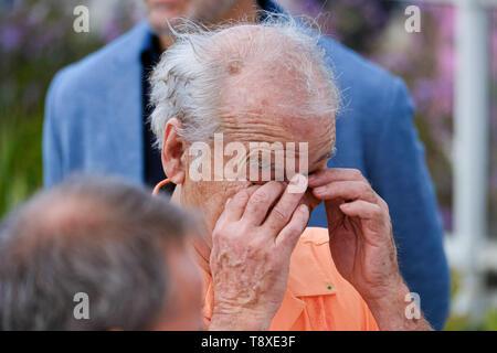 Cannes, France. 15 mai, 2019. Bill Murray a l'air fatigué à un photocall pour les morts ne meurent pas sur le mercredi 15 mai 2019 au 72e Festival de Cannes, Palais des Festivals, Cannes. Photo par: Julie Edwards/Alamy Live News Banque D'Images