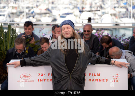 Cannes, France. 16 mai, 2019. 72e Festival du Film de Cannes 2019, le film 'Photocall' brillant sur la photo : Leon Vitali : Crédit Photo Agency indépendante/Alamy Live News Banque D'Images