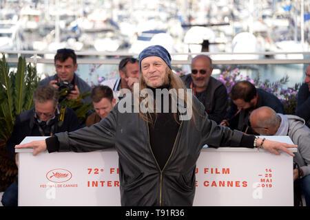 Cannes, France. 16 mai, 2019. 72e Festival du Film de Cannes 2019, le film 'Photocall' brillant sur la photo: Leon Vitali: Crédit Photo Agency indépendante/Alamy Live News Banque D'Images