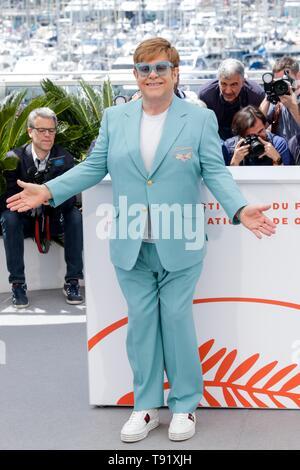 Cannes, France. 16 mai, 2019. 72e Festival de Cannes. ELTON JOHN,CANNES 2019: Crédit photo Allstar Bibliothèque/Alamy Live News Banque D'Images
