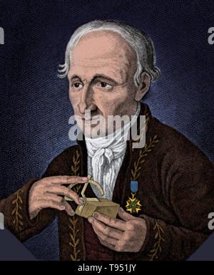 René juste Français Hauy (Février 28, 1743 - 3 juin 1822) était un minéralogiste et ordonné prêtre catholique. Son intérêt en cristallographie résulte de la rupture accidentelle d'un morceau de calcite. Après examen, il a découvert qu'ils fendu le long de tout droit d'avions qui s'est réuni à angles. Il s'est cassé plusieurs pièces de calcite et constaté que, quelle que soit la forme d'origine, les fragments brisés étaient constamment héxagonal qui a conduit à sa théorie de la structure cristalline.