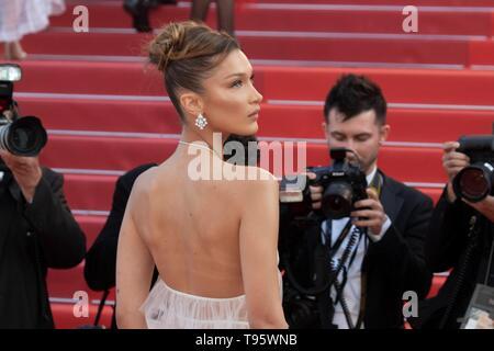 Cannes, France. 16 mai, 2019. Hadid Bella assiste à la première de 'Rocketman' pendant le 72e Festival du Film de Cannes au Palais des Festivals de Cannes, France, le 16 mai 2019. Utilisation dans le monde entier | Credit: dpa/Alamy Live News Banque D'Images