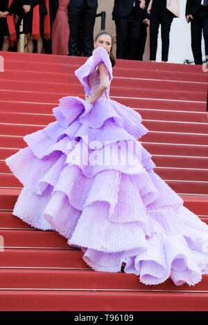 Cannes, France. 16 mai, 2019. Sririta Jensen pose sur le tapis rouge pour Rocketman le jeudi 16 mai 2019 au 72e Festival de Cannes, Palais des Festivals, Cannes. Sur la photo : . Photo par : Julie Edwards/Alamy Live News Banque D'Images
