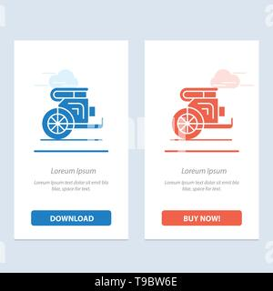 Char, chevaux, vieux, Prince, Grèce Le bleu et le rouge Téléchargez et achetez Widget web Modèle de carte Banque D'Images