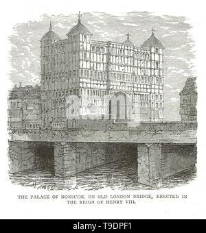 Maison Nonsuch, sur l'ancien pont de Londres, Londres, Angleterre Banque D'Images