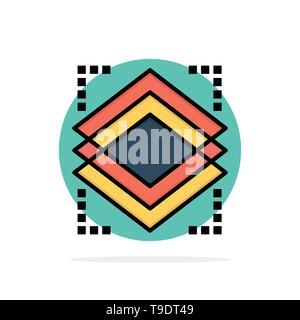 Couches, Objet, couche, Server Abstract Circle Background Télévision Icône Couleur Banque D'Images