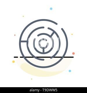 Cercle, Cercle Labyrinthe, labyrinthe, Labyrinthe Résumé modèle Icône Couleur Télévision Banque D'Images