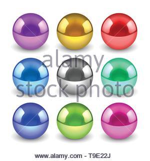 Métallique brillant 3d jeu de boules Banque D'Images