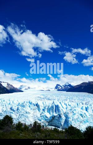 Portrait de Perito Moreno Glacier, Patagonie, Argentine Banque D'Images