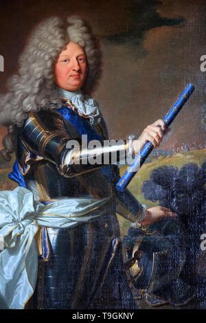 Le Grand Dauphin devant le siège de Philipsbourg (1688). Louis de France (1661-1711). Château de Versailles. Banque D'Images