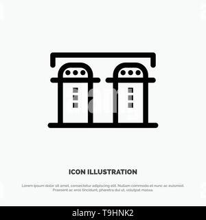 Sel, papier, bouteille, l'icône de la ligne du vecteur d'Épices Banque D'Images