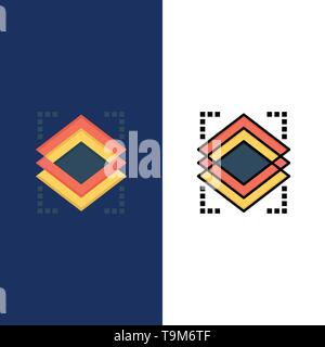 Couches, couche, Objet, serveur d'icônes. Télévision et ligne rempli Icon Set vector Blue Background Banque D'Images