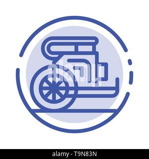 Char, chevaux, vieux, Prince, la Grèce l'icône de la ligne en pointillé bleu Banque D'Images