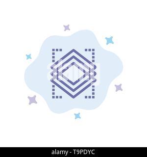 Couches, Objet, couche, Server icône bleue sur fond de nuage abstrait Banque D'Images