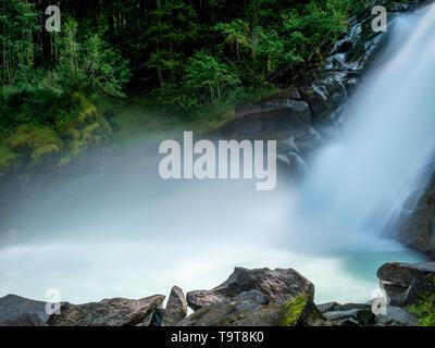 Des cascades Krimmler, parc national des tanneurs, Krimml, Pays-Bas, pays de Salzbourg, Salzbourg, Autriche, Europe, Krimmler Wasserfälle, Nationalpark H