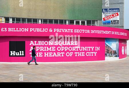 Possibilité de vente au détail dans la région de Albion Square, Kingston Upon Hull, East Yorkshire, England UK Banque D'Images