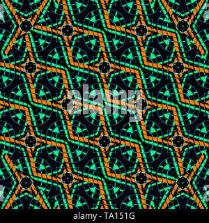 Résumé numérique géométrique moderne pattern design transparente dans les tons sombres Banque D'Images