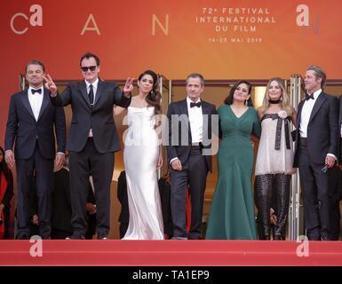 Brad Pitt, Quentin Tarantino, Margot Robbie, Leonardo Dicaprio,Cannes 2019
