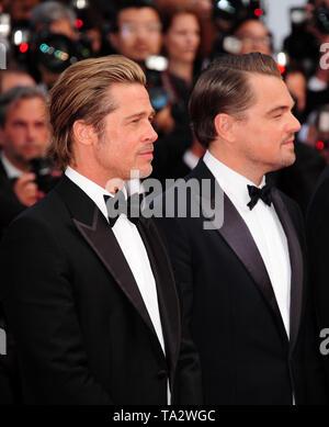 Festival du Film de Cannes 21stMay à un tapis rouge Brad Pitt Leonardo Dicaprio Banque D'Images