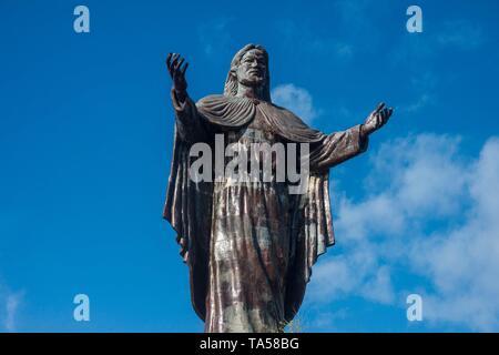 Statue Cristo Rei, ciel bleu, Dili, Timor Oriental