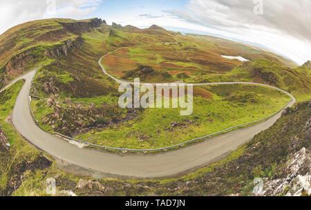 Royaume-uni, Ecosse, vue depuis le Quiraing sur l'île de Skye Banque D'Images