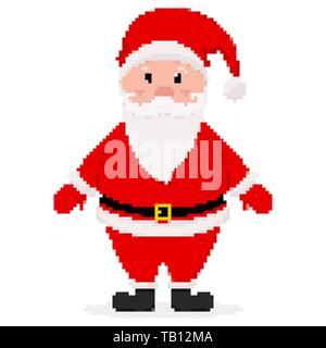 Pixel Vectoriel Santa Vecteurs Et Illustration Image