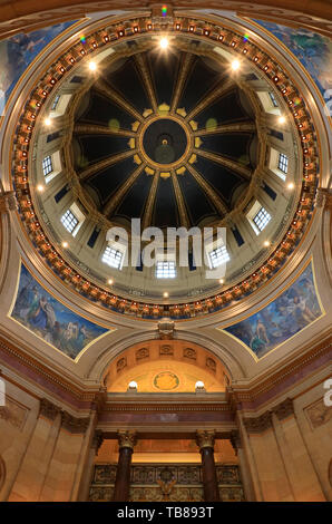 Vue de l'intérieur de Minnesota State Capitol's dome.Saint Paul.Minnesota.USA