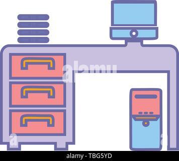 Travail de bureau design vector icône