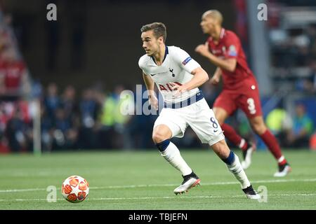 Madrid, Espagne. 01 Juin, 2019. Clins d'HARRY PENDANT LE MATCH CONTRE Tottenham Hotspur FC LIVERPOOL FC LORS DE LA DERNIÈRE LIGUE DES CHAMPIONS. MADRID. 1 juin 2019 Crédit : CORDON PRESS/Alamy Live News Crédit : CORDON PRESS/Alamy Live News Banque D'Images