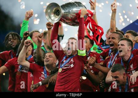 Madrid, Espagne. 01 Juin, 2019. Jordan Henderson, Tottenham Hotspur FC V Liverpool FC, 2019 Allstar Crédit: photo library/Alamy Live News Banque D'Images
