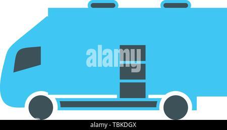 La voie de l'huile sur l'icône transport télévision Banque D'Images