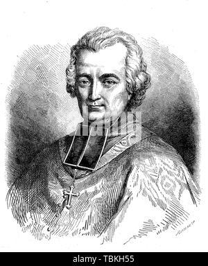 Jean-Louis Anne Madelain Lefebvre de Cheverus, connu sous le nom de John de Cheverus, 1768-1836, un évêque catholique romain et plus tard cardinal, 1880, historique Banque D'Images