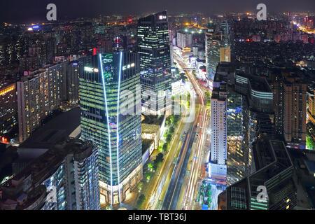 Vue de la nuit de Swire, Guangzhou Banque D'Images