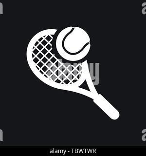 Le symbole vecteur icône Tennis Banque D'Images