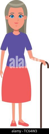 Vieille Femme avatar personnage Banque D'Images