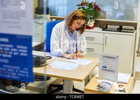 Département administratif, l'admission, l'hôpital Donostia, San Sebastian, Gipuzkoa, Pays Basque, Espagne Banque D'Images