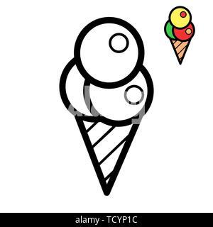 Fast Food A Colorier La Nourriture Dans Le Style Lineaire Big