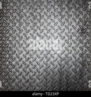 Liste noire en aluminium avec des formes rhombus Banque D'Images